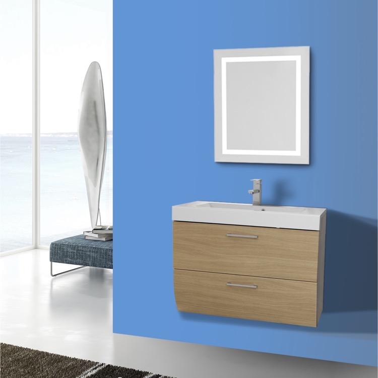 Iotti Nn239 By Nameeks New Day 30 Inch Natural Oak Bathroom Vanity