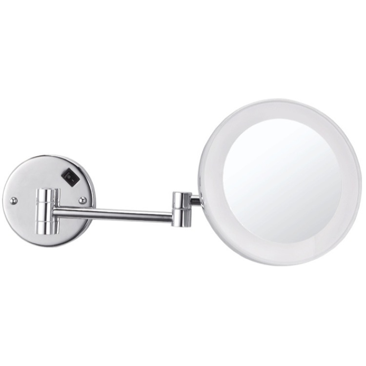 Makeup Mirror, Nameeks AR7706-CR-3x, Round Wall Mounted 3x Makeup Mirror with LED, Hardwired