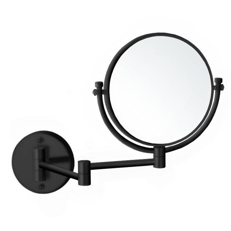 Makeup Mirror, Nameeks AR7707-BLK-7x, Matte Black Double Sided Wall Mounted 7x Makeup Mirror
