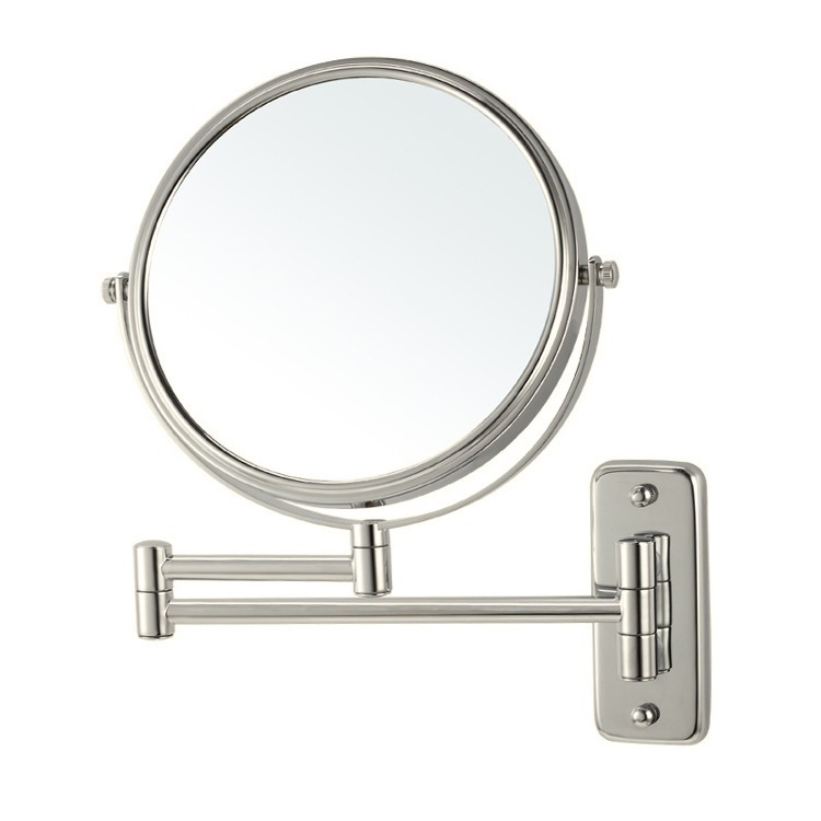 Makeup Mirror, Nameeks AR7719-SNI-3x, Satin Nickel Wall Mounted Double Sided 3x Shaving Mirror