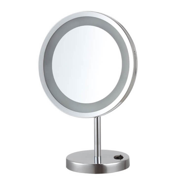 Makeup Mirror, Nameeks AR7729-CR-10x, Free Standing 10x LED Makeup Mirror