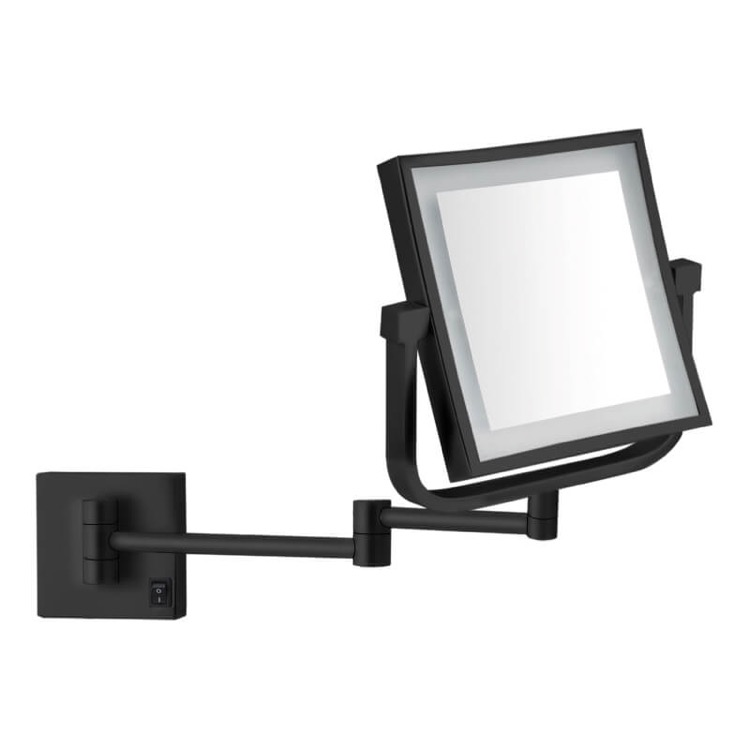 Makeup Mirror, Nameeks AR7730-BLK-5x, Matte Black Double Face LED 5x Magnifying Mirror, Hardwired