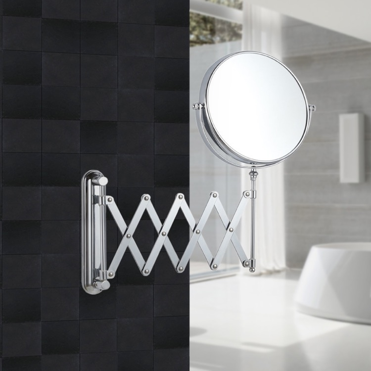 Nameeks Ar7720 By Nameek S Glimmer Double Sided Adjustable Arm 3x Shaving Mirror Thebathoutlet