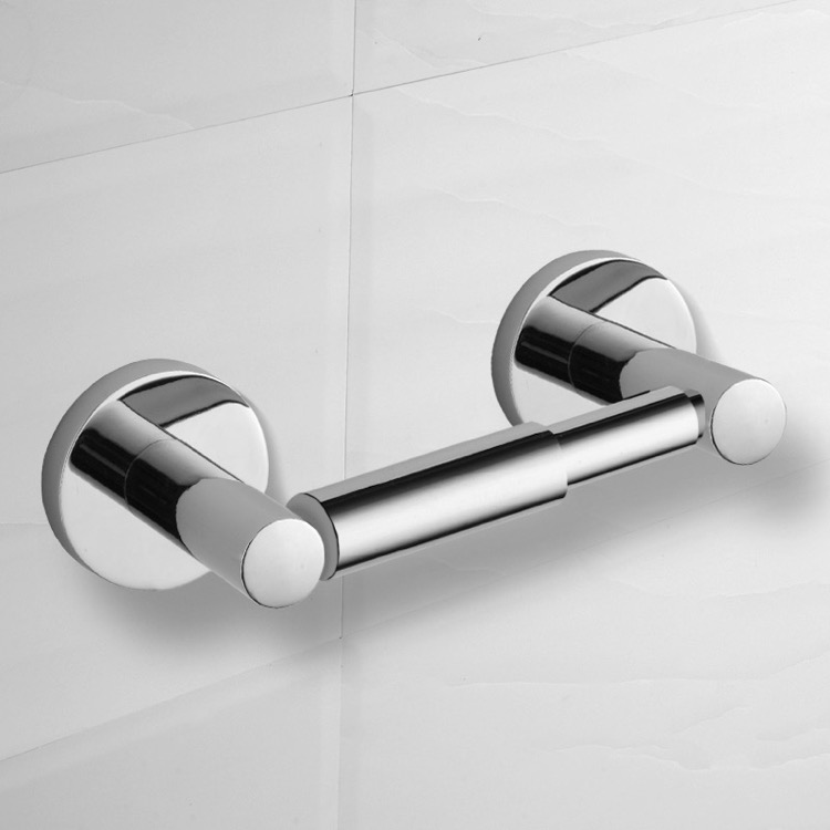 Toilet Paper Holder, Nameeks NCB72, Modern Polished Chrome Toilet Paper Holder