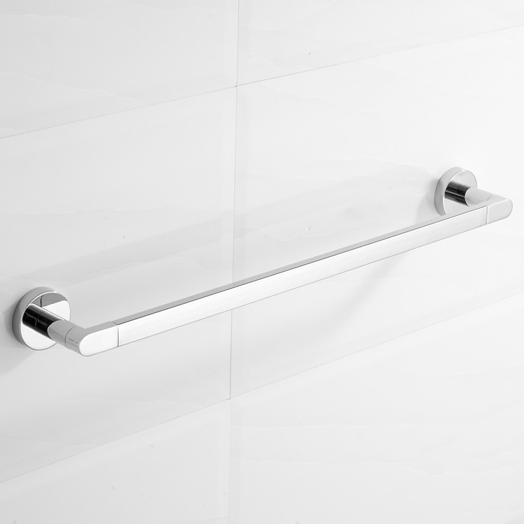 Towel Bar, Nameeks NCB80, 23 Inch Polished Chrome Towel Bar