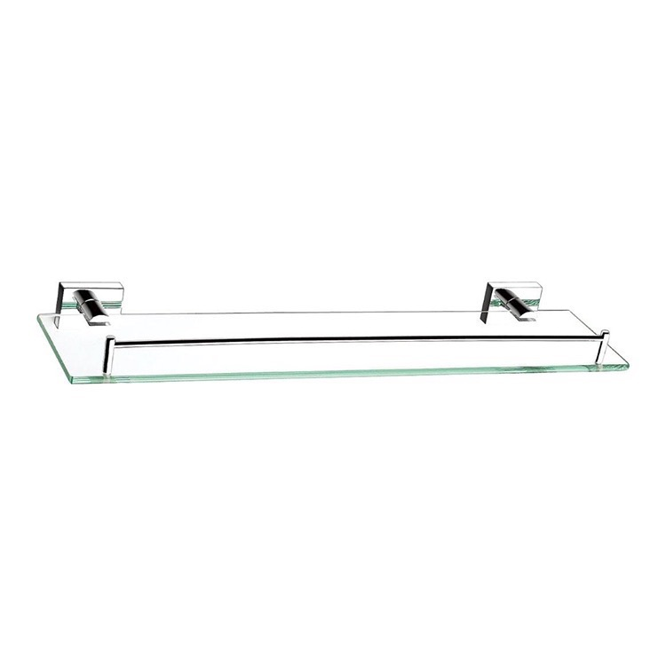 Bathroom Shelf, Nameeks NFA002, 20 Inch Glass Shelf With Chrome Mounting