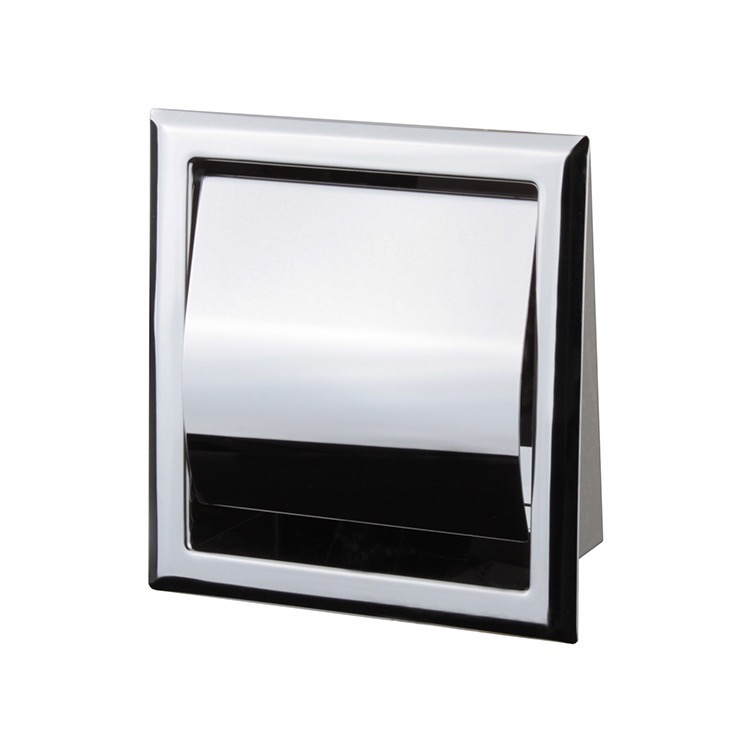 Toilet Paper Holder, Nameeks NFA010, Chrome Recessed Toilet Paper Holder With Cover