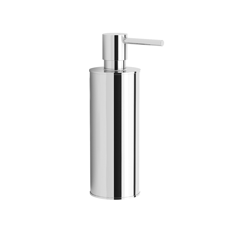 Soap Dispenser, Nameeks NNBL0048, Round Polished Chrome Soap Dispenser