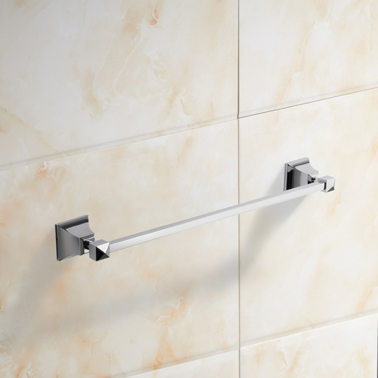 Towel Bar, Nameeks NCB02, 20 Inch Polished Chrome Towel Bar