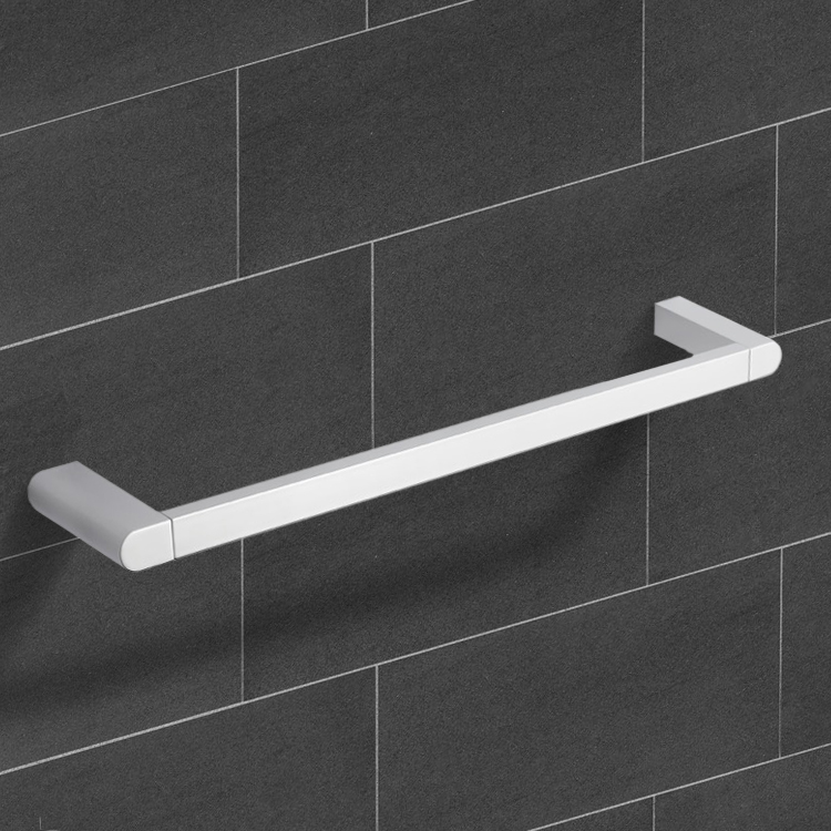 Towel Bar, Nameeks NCB07, 26 Inch Modern Chrome Towel Bar