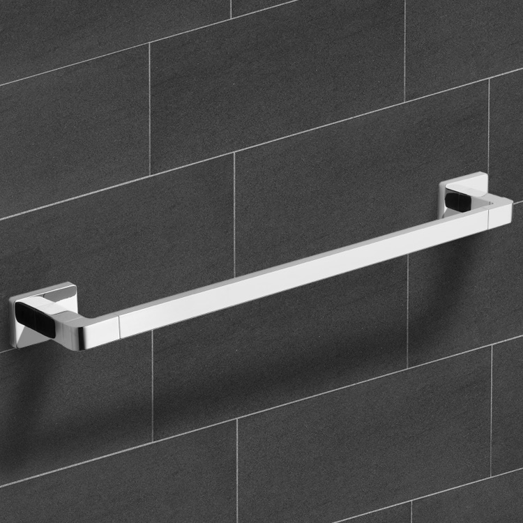 Towel Bar, Nameeks NCB12, 25 Inch Modern Chrome Towel Bar