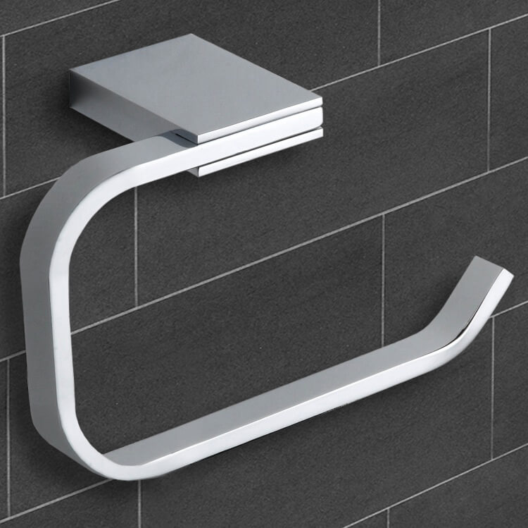 Toilet Paper Holder, Nameeks NCB34, Polished Chrome Toilet Paper Holder