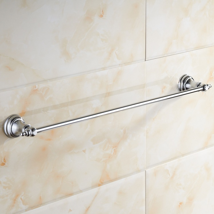 Towel Bar, Nameeks NCB42, 25 Inch Polished Chrome Towel Bar