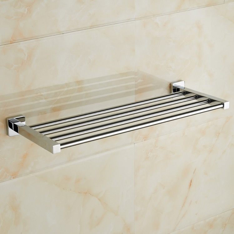 Train Rack, Nameeks NCB48, Polished Chrome Towel Rack