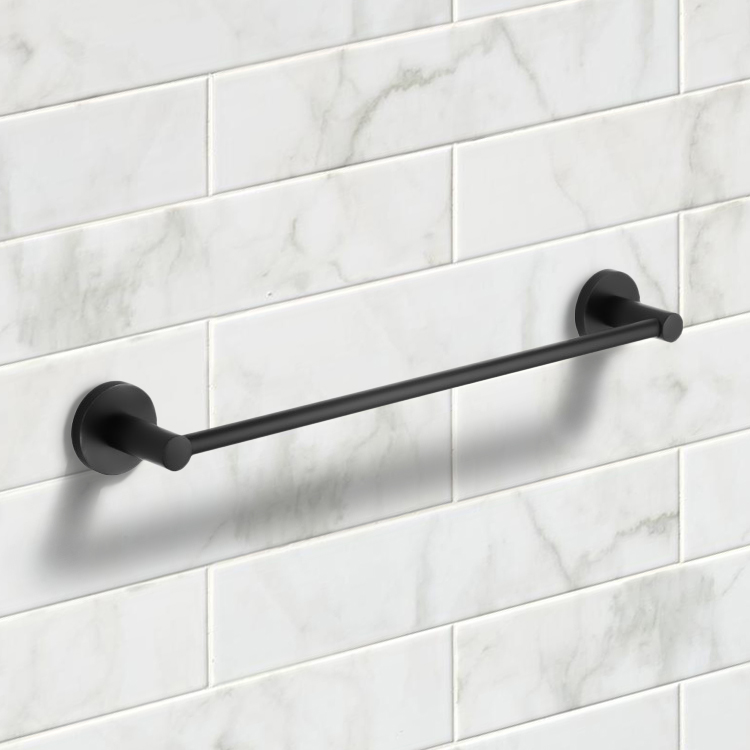 Towel Bar, Nameeks NCB54, 19 Inch Matte Black Towel Bar
