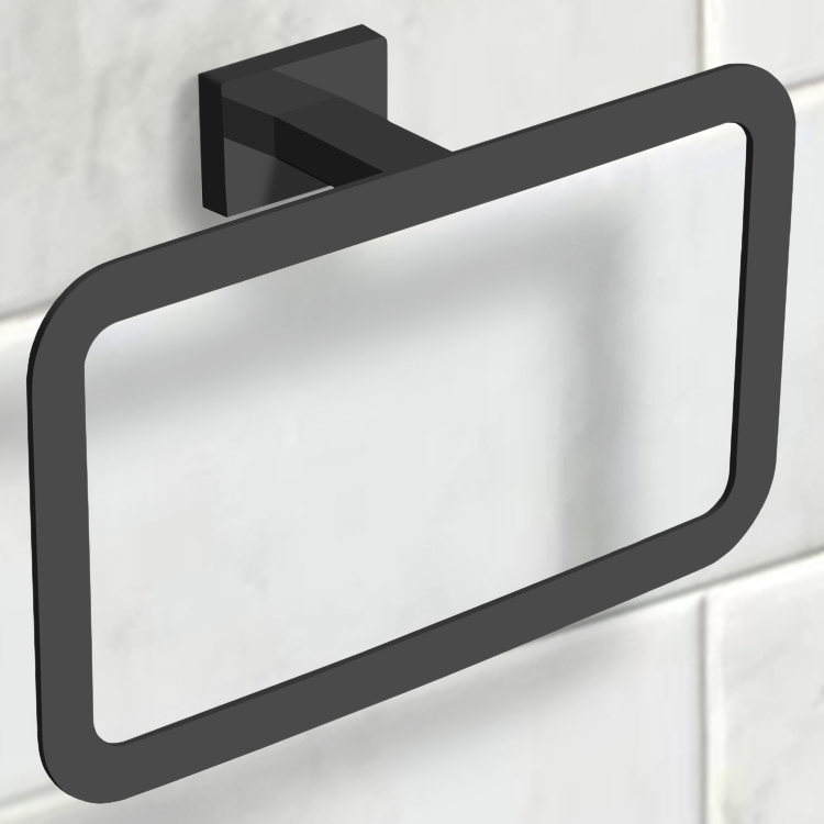 Towel Ring, Nameeks NCB57, Modern Matte Black Towel Ring