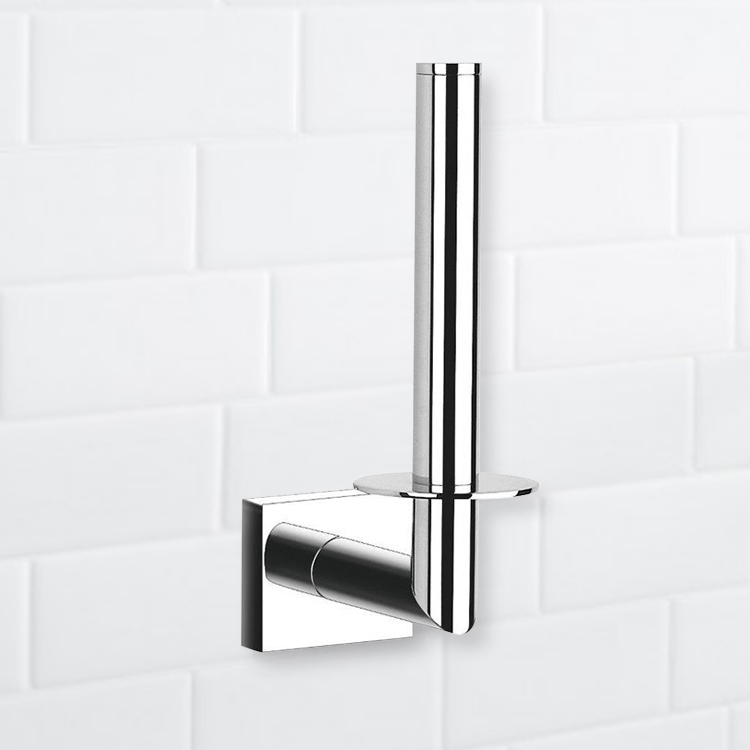 Toilet Paper Holder, Nameeks NFA001, Rectangle Chrome Vertical Toilet Paper Holder