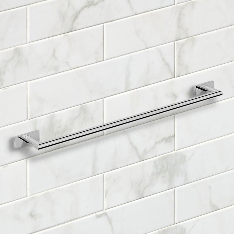 Towel Bar, Nameeks NNBL0014, 26 Inch Polished Chrome Towel Bar