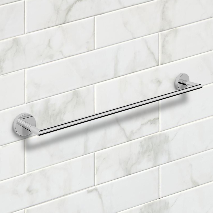 Towel Bar, Nameeks NNBL0024, 25 Inch Polished Chrome Towel Bar