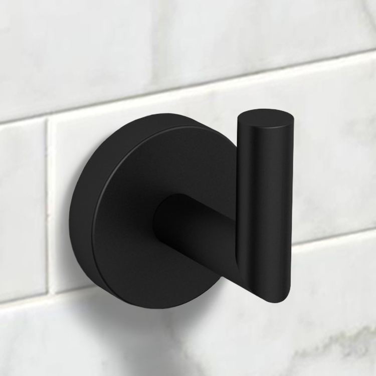 Bathroom Hook, Nameeks NNBL0028, Matte Black Bathroom Hook