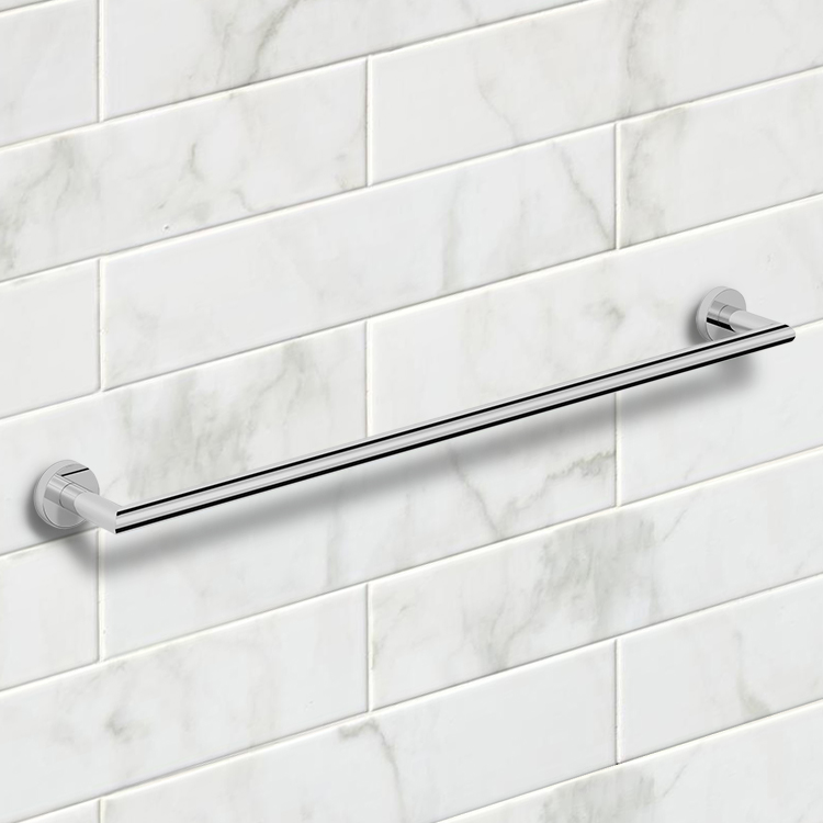 Towel Bar, Nameeks NNBL0035, 25 Inch Polished Chrome Towel Bar
