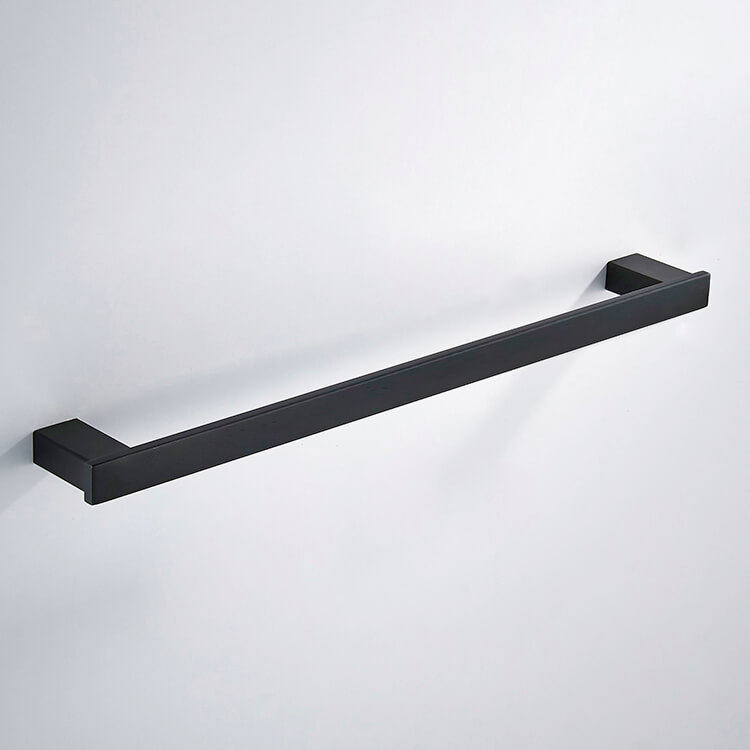Towel Bar, Nameeks NCB88, 24 Inch Modern Matte Black Towel Bar