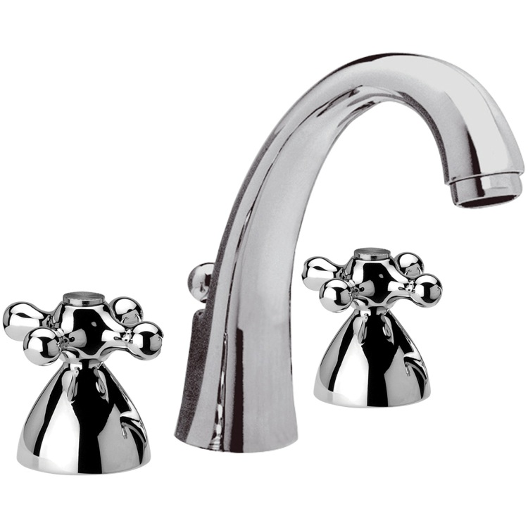 3 Hole Bathroom Faucet : Bathroom Faucets, Remer 11CLI, Chrome Three Hole Bathroom Faucet