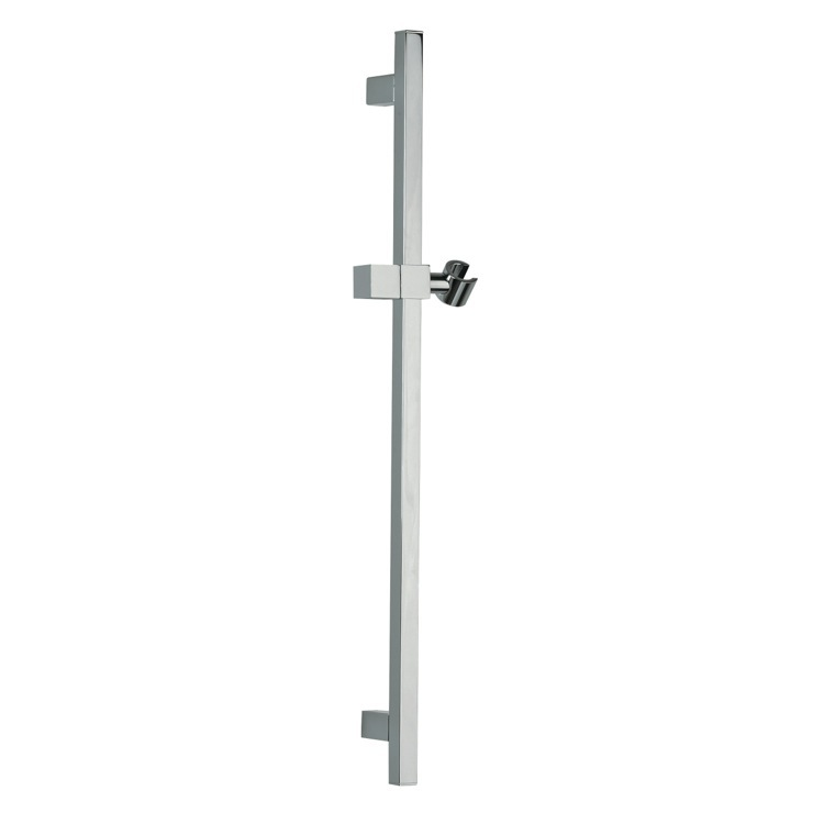 Shower Slidebar, Remer 317S-CR, Squared 28 Inch Sliding Rail Available in 8 Finishes