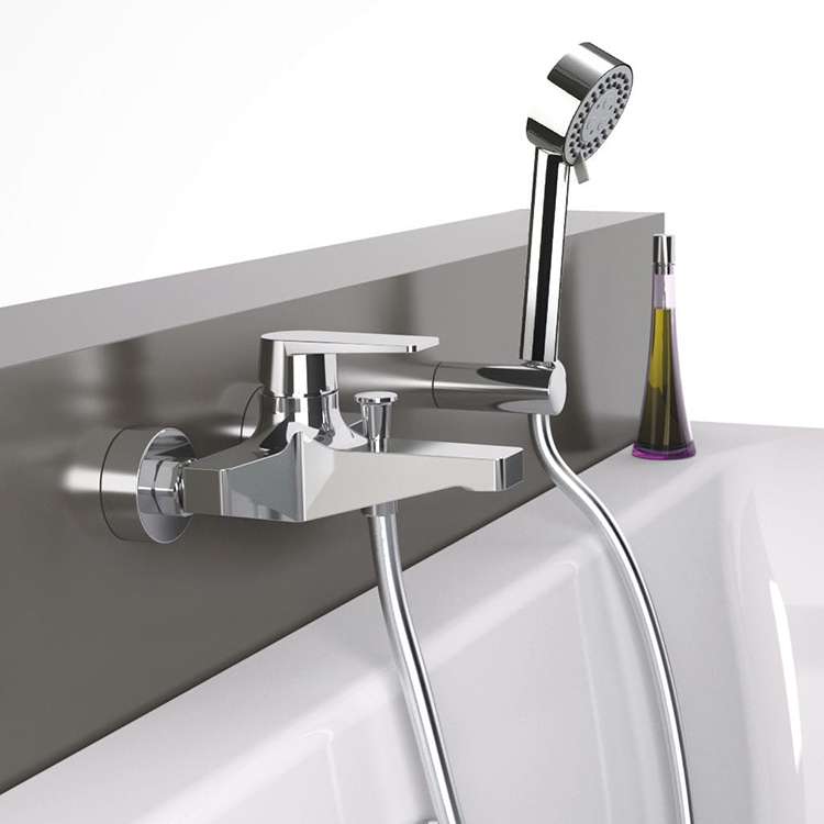 Remer D02 By Nameek\'s Dream Wall Mount Tub Faucet with Hand Shower ...