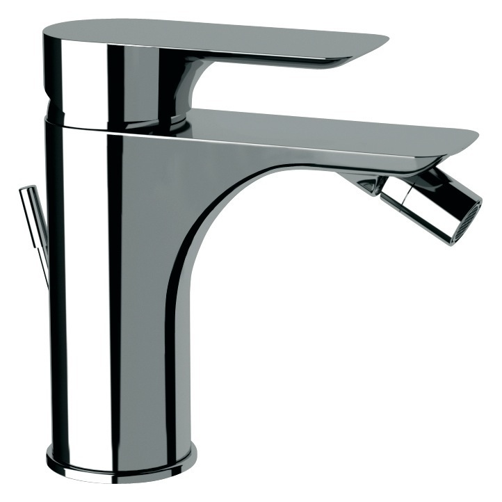 Bidet Faucet, Remer I21US, Deck Mount Chrome Bidet Mixer With Single Lever