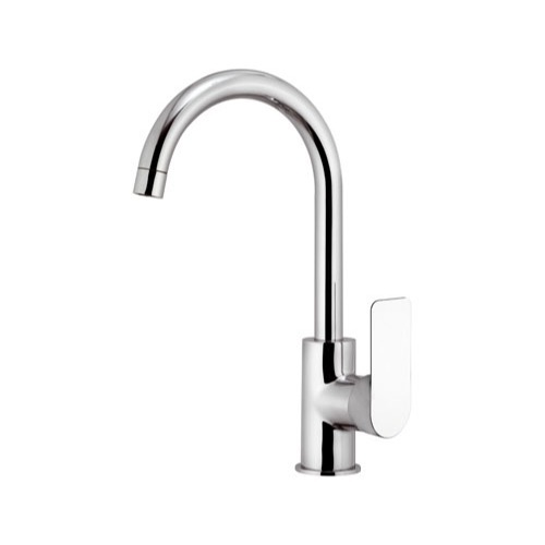 Bathroom Faucet, Remer I72, Chrome One Hole Bathroom Faucet