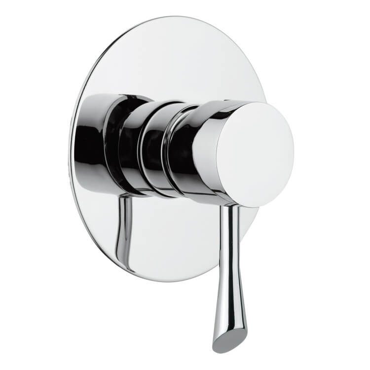 Mixer, Remer J30L-CR, Built-In Shower Mixer With Single Lever and Deluxe Flange