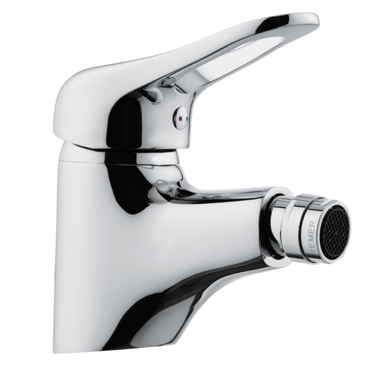 Bidet Faucet, Remer K21, Chrome Single-Lever Bidet Faucet With Adjustable Aerator
