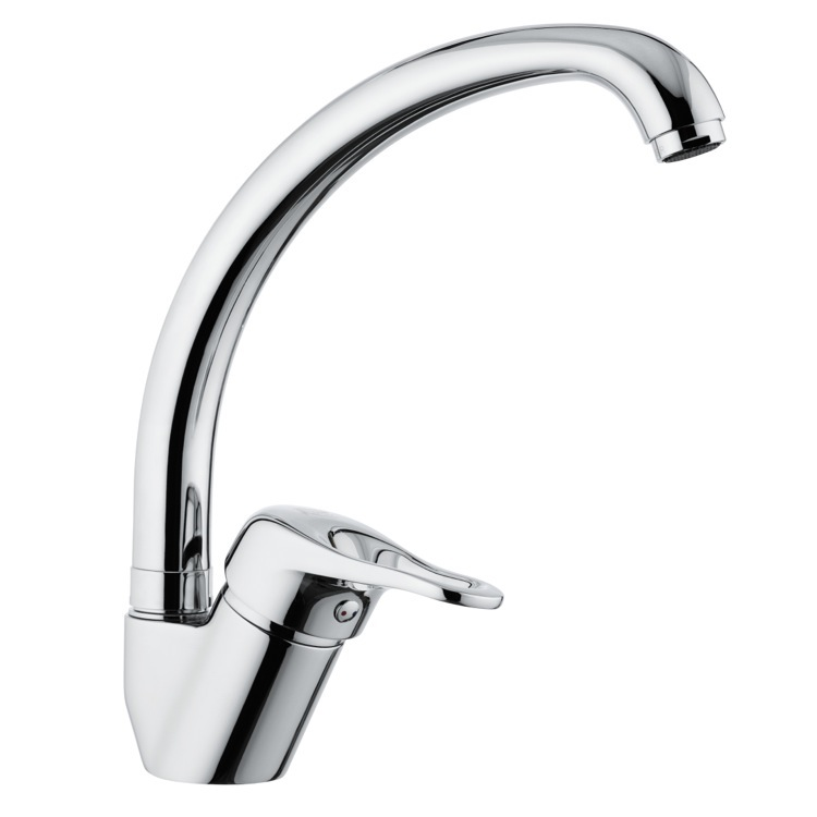 Remer K42 By Nameek\'s Kiss Chrome One-Hole Sink Faucet With High ...