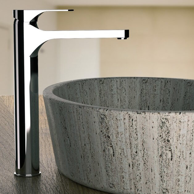 Bathroom Faucet, Remer L11LXLUS, Chrome Round Vessel Sink Faucet