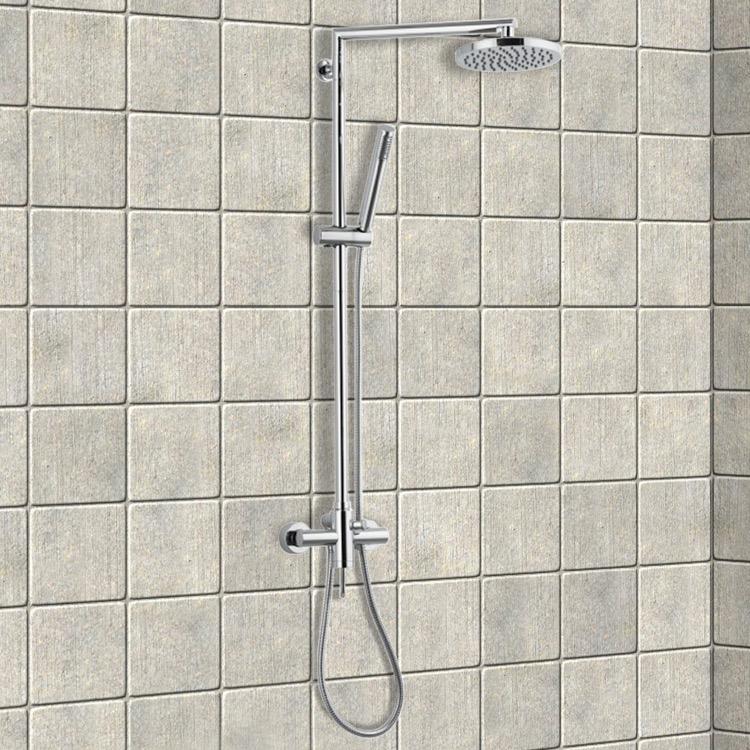 Remer N37B By Nameek\'s Minimal Chrome Shower Column With Overhead ...