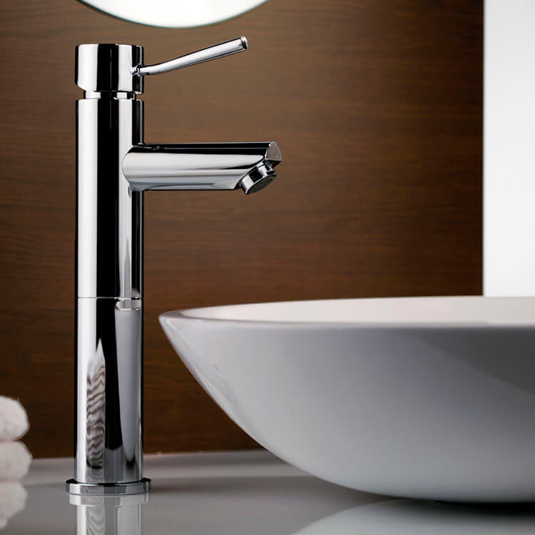 Remer N11L By Nameek\'s Minimal Chrome Round Vessel Sink Faucet ...
