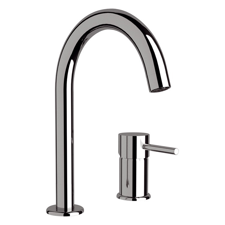 Bathroom Faucet, Remer N57, Chrome Two Hole Bathroom Sink Faucet