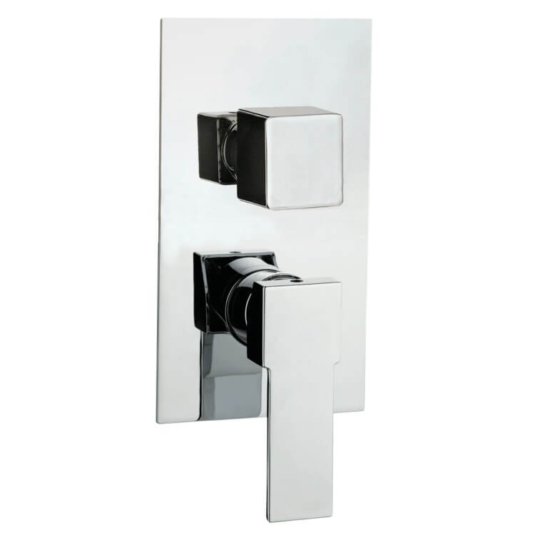 Diverter, Remer Q93US-CR, Contemporary Built In Three Way Shower Diverter