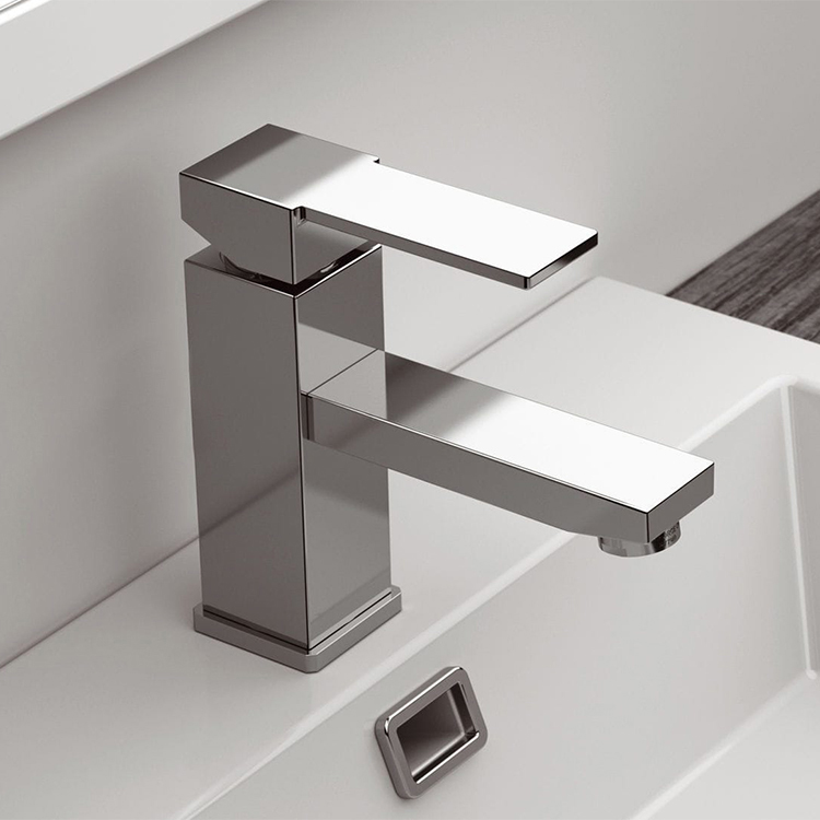 Bathroom Faucet, Remer Q11US, Single Lever Bathroom Sink Faucet in 2 Finishes