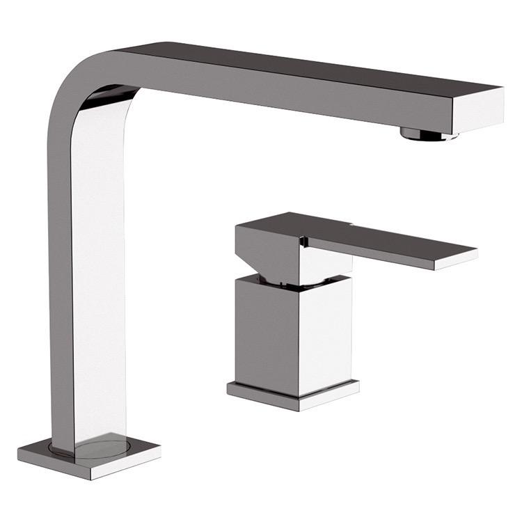 Bathroom Faucet, Remer Q57, Chrome Two Hole Bathroom Sink Faucet
