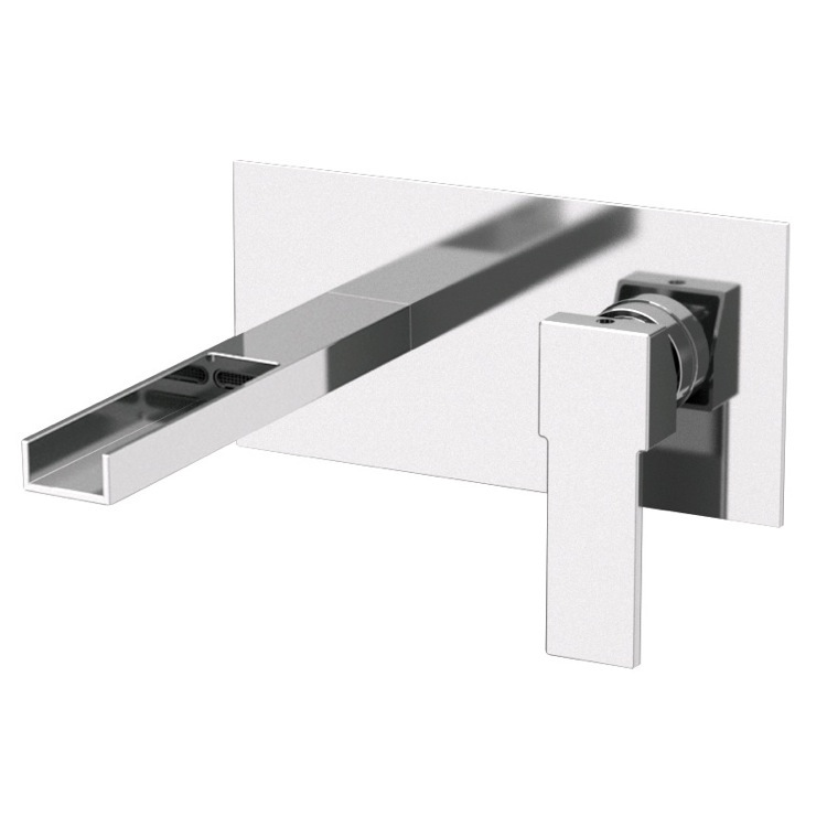 Bathroom Faucet, Remer QC15US, Rectangular Built in Basin Mixer with Waterfall Spout