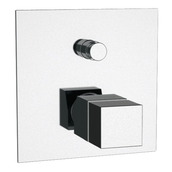 Diverter, Remer QT09US-CR, Built in Thermostatic Bath Shower Mixer In Chrome