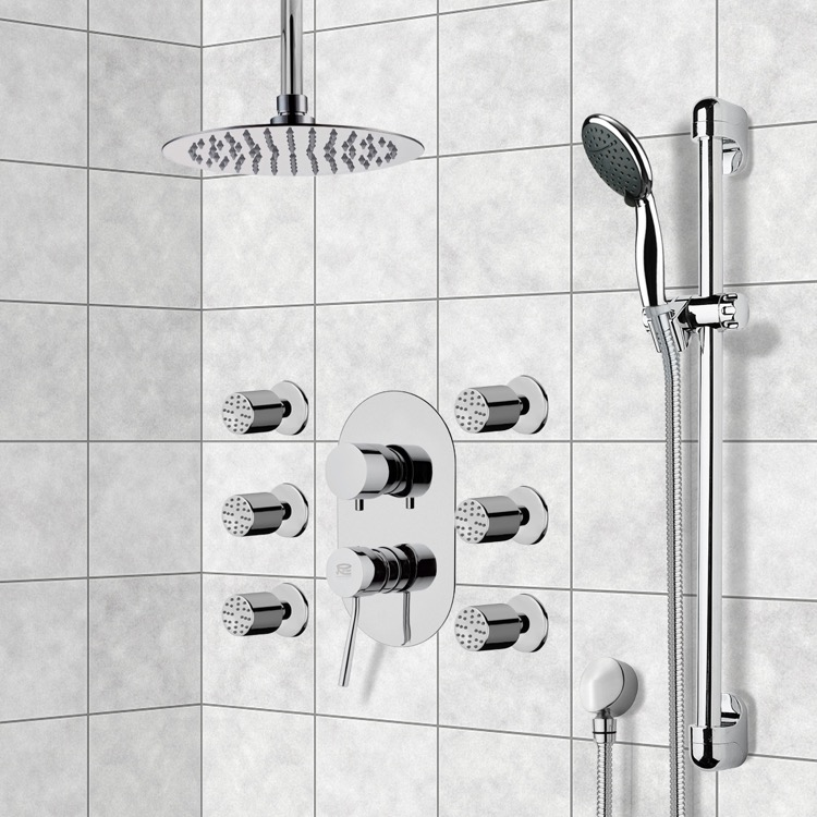 Shower Faucet, Remer R2, Chrome Shower System with Ceiling 10