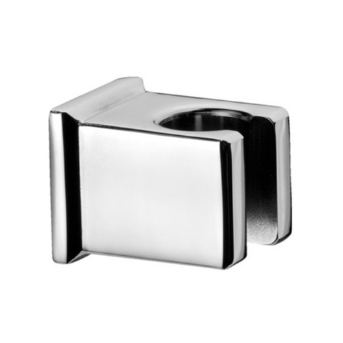 Hand Held Shower Bracket, Remer 339SOS-CR, Square Shower Bracket In Plated Brass