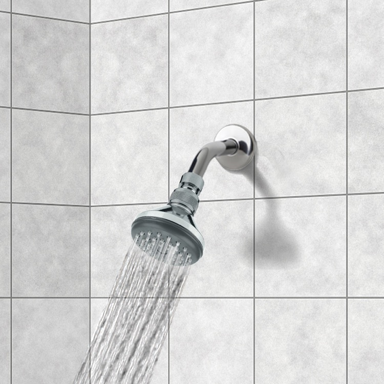 Shower Head, Remer 342-351A, Chrome Full Spray Shower Head with Shower Arm