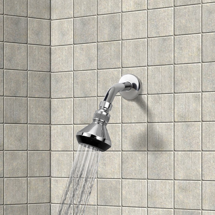 Shower Head, Remer 342-352, Shower Head with Shower Arm in Chromed Brass