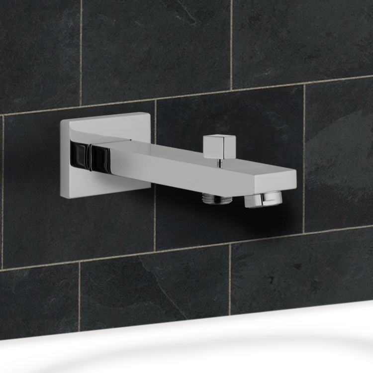 Remer 91QD By Nameek\'s Qubika Wall-Mounted Tub Spout With Diverter ...
