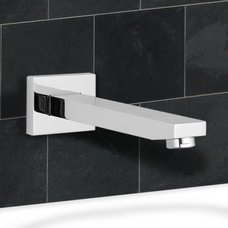 Tub Spout, Remer 91QUS-CR, Built-In Rectangular Tub Spout