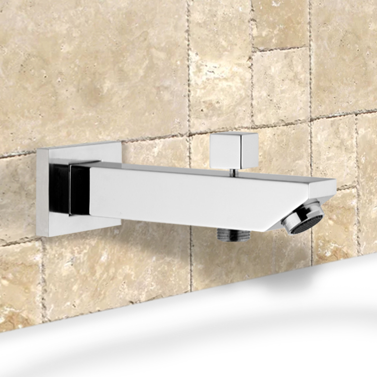 Remer 91SD By Nameek\'s Spouts Square Tub Spout with Diverter ...